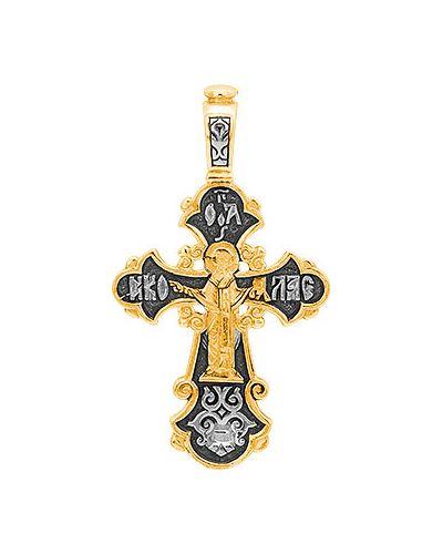 Золотистый черный крест с декоративной отделкой серебро россии