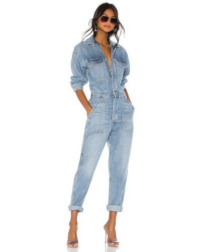 Niebieski kombinezon jeansowy bawełniany Citizens Of Humanity