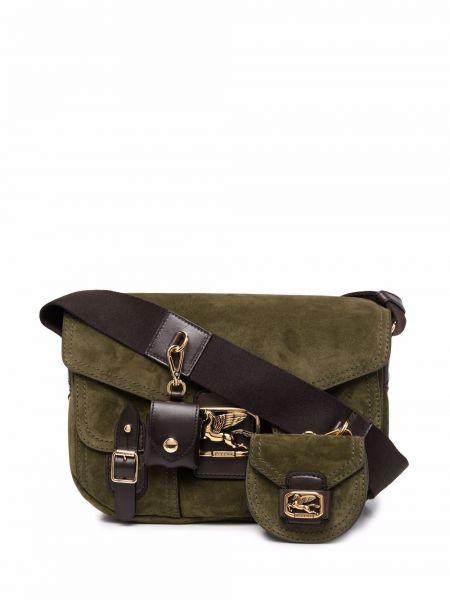 Зеленая сумка золотистая Etro