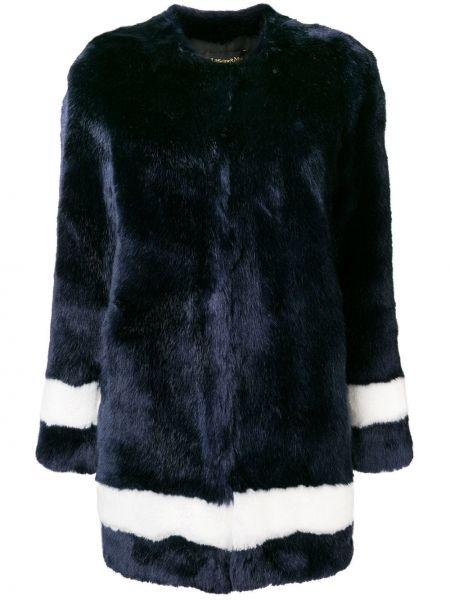Акриловое прямое коралловое длинное пальто с воротником La Seine & Moi