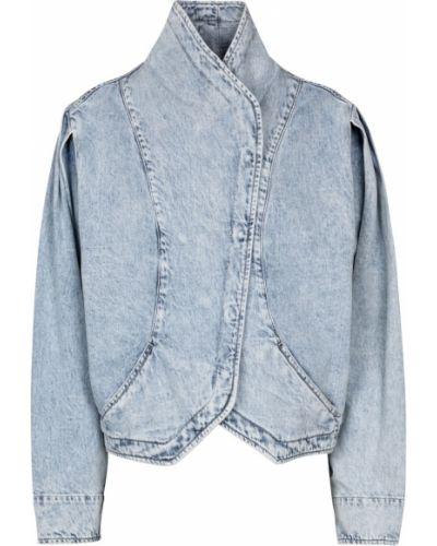 Хлопковая ватная синяя джинсовая куртка Isabel Marant
