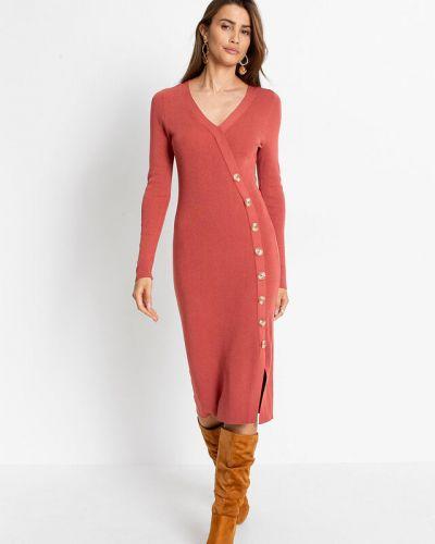 Вязаное платье - красное Bonprix