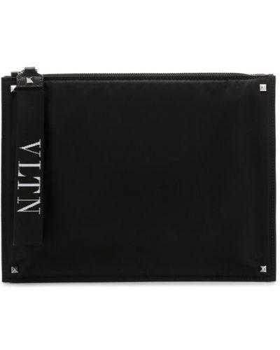Барсетка на молнии с логотипом Valentino
