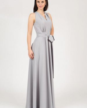 Вечернее платье серое осеннее Grey Cat