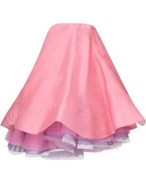 Розовое платье на молнии без рукавов без бретелек Nina Ricci