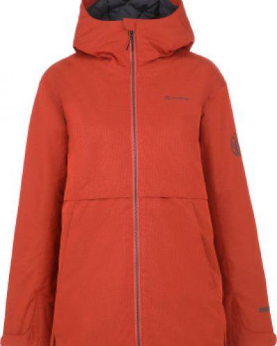 Оранжевая свободная утепленная куртка мембранная на молнии Outventure