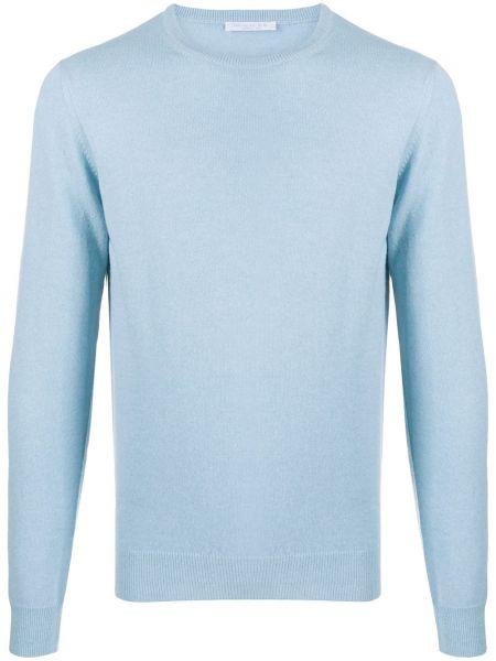 С рукавами вязаный шерстяной синий свитер Cenere Gb