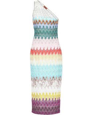 Теплое платье с завышенной талией через плечо Missoni