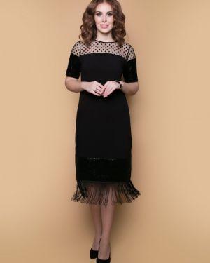 Платье с декольте с бахромой Belluche