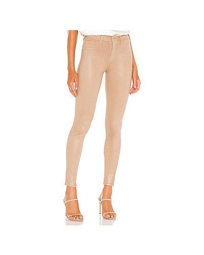 Хлопковые джинсы-скинни с карманами на молнии скинни L'agence