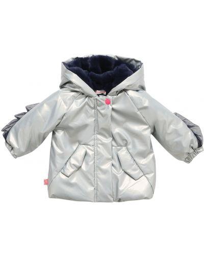 Куртка с капюшоном - серебряная Billieblush