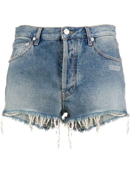 Джинсовые шорты с завышенной талией с карманами Off-white