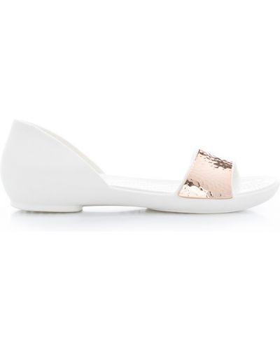 Балетки белые Crocs