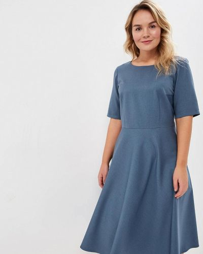 Платье миди бирюзовый осеннее Borboleta