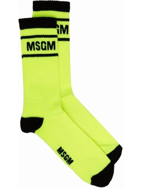 Черные носки из эластана Msgm