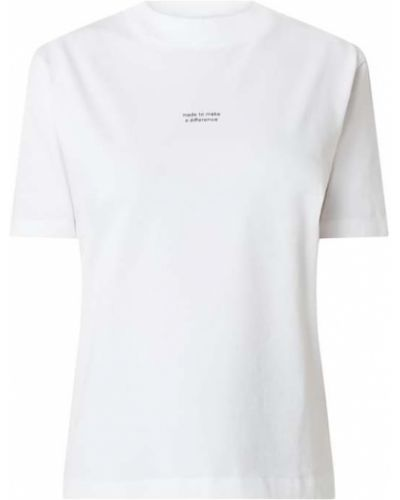 Biały t-shirt bawełniany Armedangels