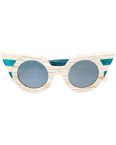 Солнцезащитные очки бежевые хаки Delalle