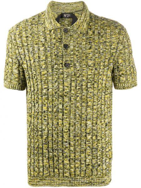 Koszula krótkie z krótkim rękawem klasyczna żółty N°21
