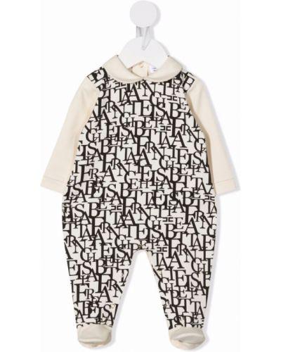 Piżama z długimi rękawami - biała Elisabetta Franchi La Mia Bambina
