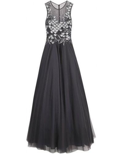 Вечернее платье приталенное с бисером макси Basix Black Label