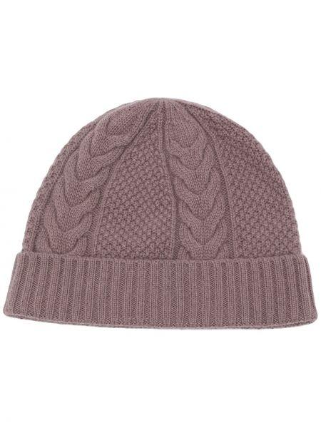 Brązowa z kaszmiru czapka N.peal