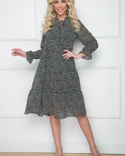 Свободное повседневное шифоновое платье макси Bellovera