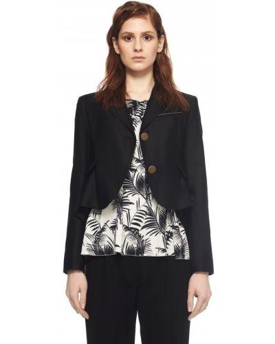 Черный хлопковый пиджак Sonia Rykiel