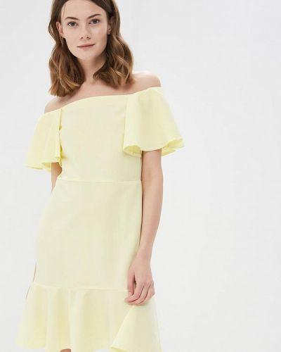 Домашнее желтое платье с открытыми плечами Sk-house
