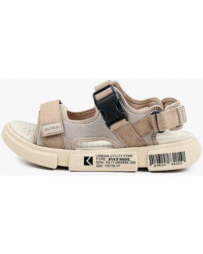 Бежевые текстильные сандалии Patrol