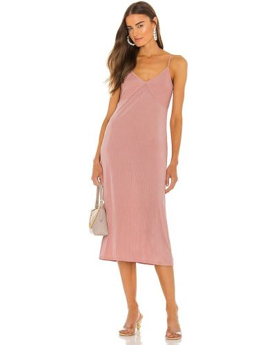 Розовое облегающее платье миди Line & Dot