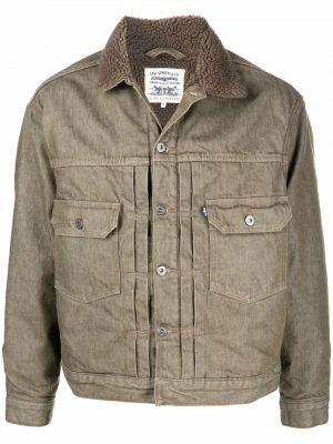 Зеленая хлопковая джинсовая куртка Levi's®  Made & Crafted™