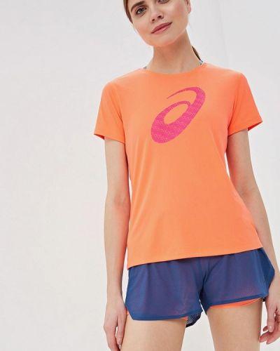 Спортивная футболка коралловый красный Asics