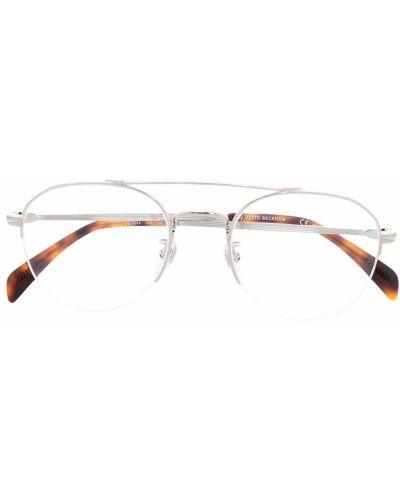 Okulary srebrne - brązowe Eyewear By David Beckham