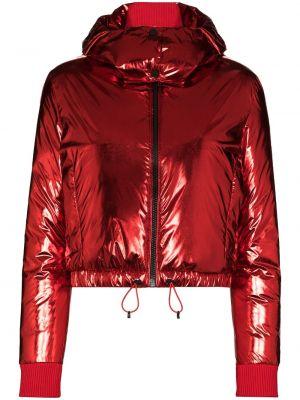 Куртка горнолыжная с капюшоном - красная Perfect Moment