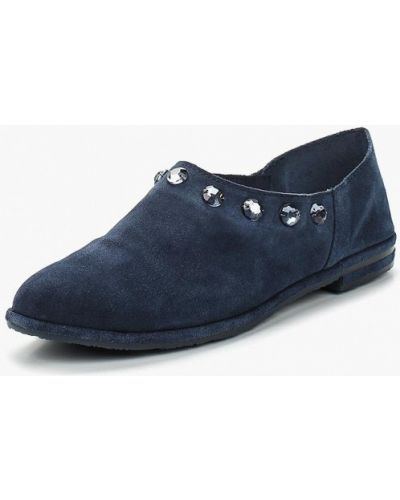 Синие туфли велюровые Marco Tozzi