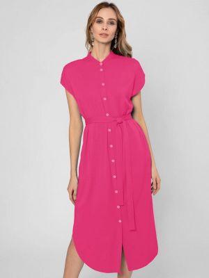 Платье рубашка - розовое Pompa