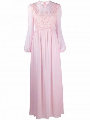 Платье макси с длинными рукавами - розовое Giambattista Valli