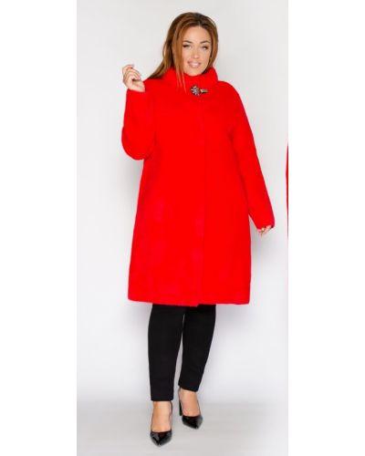 Пальто из альпаки - красное Miss Podium