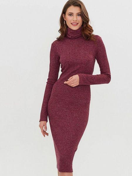 Вязаное бордовое платье Masha Mart