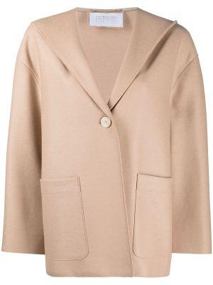Шерстяная куртка с капюшоном на пуговицах Harris Wharf London