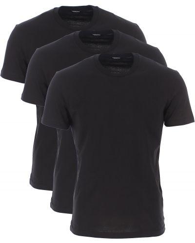 Czarny t-shirt bawełniany krótki rękaw Dsquared