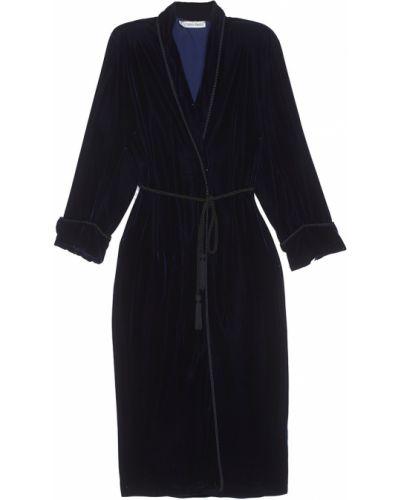 Платье с поясом велюровое платье-халат Calvin Klein Vintage