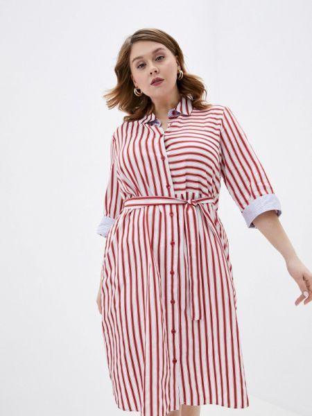Платье платье-рубашка красный Persona By Marina Rinaldi