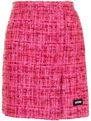 Różowa spódnica tweedowa Pushbutton