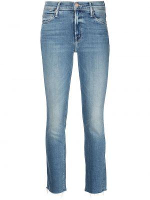 Синие хлопковые джинсы Mother