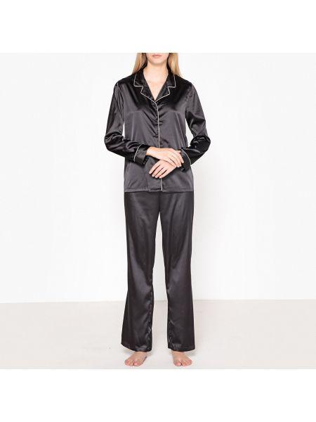 Пижама с брюками сатиновая на пуговицах La Redoute Collections