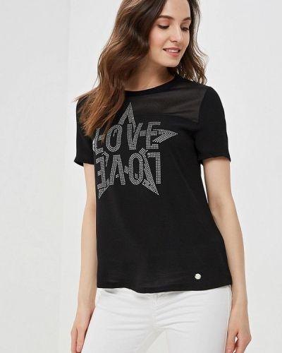 Блузка с коротким рукавом черная весенний Gaudi