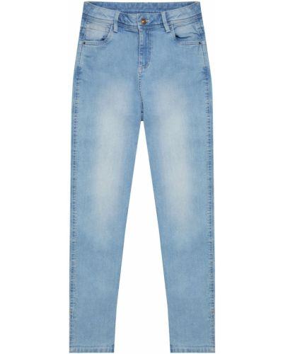 Зауженные джинсы - голубые Moodo
