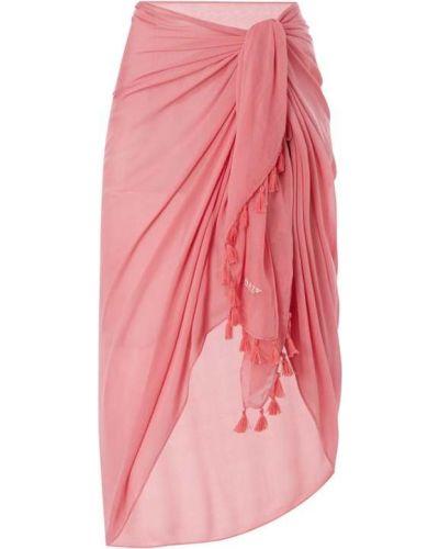 Różowy pareo z wiskozy Barts