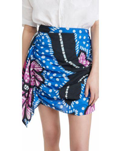 Fioletowa spódnica bawełniana z printem Rhode